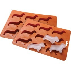 Dachshund Dog Silicone Ice Cube Tray Set Of 2