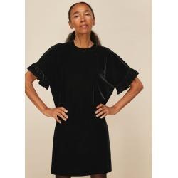 Whistles Women Velvet Frill Sleeve Dress found on Bargain Bro UK from Whistles