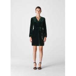 Whistles Women Lavone Silk Mix Velvet Dress found on Bargain Bro UK from Whistles