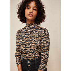 Whistles Women Tiger Leopard Print High Neck found on Bargain Bro UK from Whistles