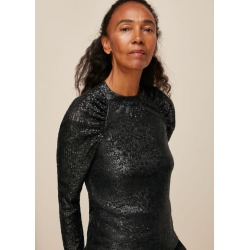 Whistles Women Sequin Long Sleeve Top found on Bargain Bro UK from Whistles