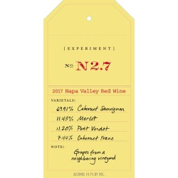 OVID 2017 Experiment N.27 Red - Bordeaux Blends Red Wine found on Bargain Bro India from Wine.com for $179.99