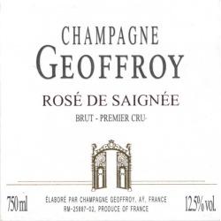 Rene Geoffroy Rose de Saignee Brut - Champagne & Sparkling