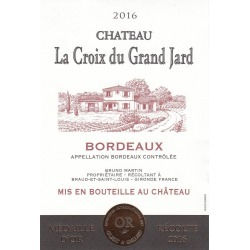Chateau La Croix du Grand Jard 2016 - Bordeaux Blends Red Wine found on Bargain Bro Philippines from Wine.com for $12.99