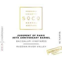 Bacigalupi Vineyards 2015 Judgment of Paris 40th Anniversary Chardonnay (Sonoma Barrel Auction) - White Wine