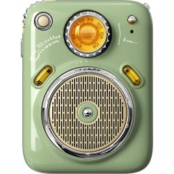 Divoom Beetle FM Portable Radio Bluetooth Speaker - Green found on Bargain Bro from Wireless 1 for USD $40.98