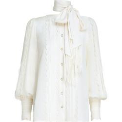 Wavelength Silk Scallop Shirt-Pearl-0 found on Bargain Bro UK from ZIMMERMANN (UK)