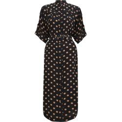 Silk Utility Midi Dress-Black/Tan Dot-3 found on Bargain Bro UK from ZIMMERMANN (UK)