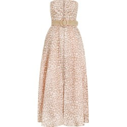 Carnaby Bustier Midi Dress-Pink Leopard-0P found on Bargain Bro UK from ZIMMERMANN (UK)