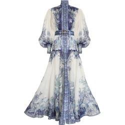 Glassy Billow Dress-Navy Phoenix-0P found on Bargain Bro UK from ZIMMERMANN (UK)