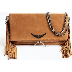 Rock Suede Fringes Clutch found on Bargain Bro UK from Zadig & Voltaire